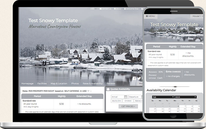 Short term rental booking template 8