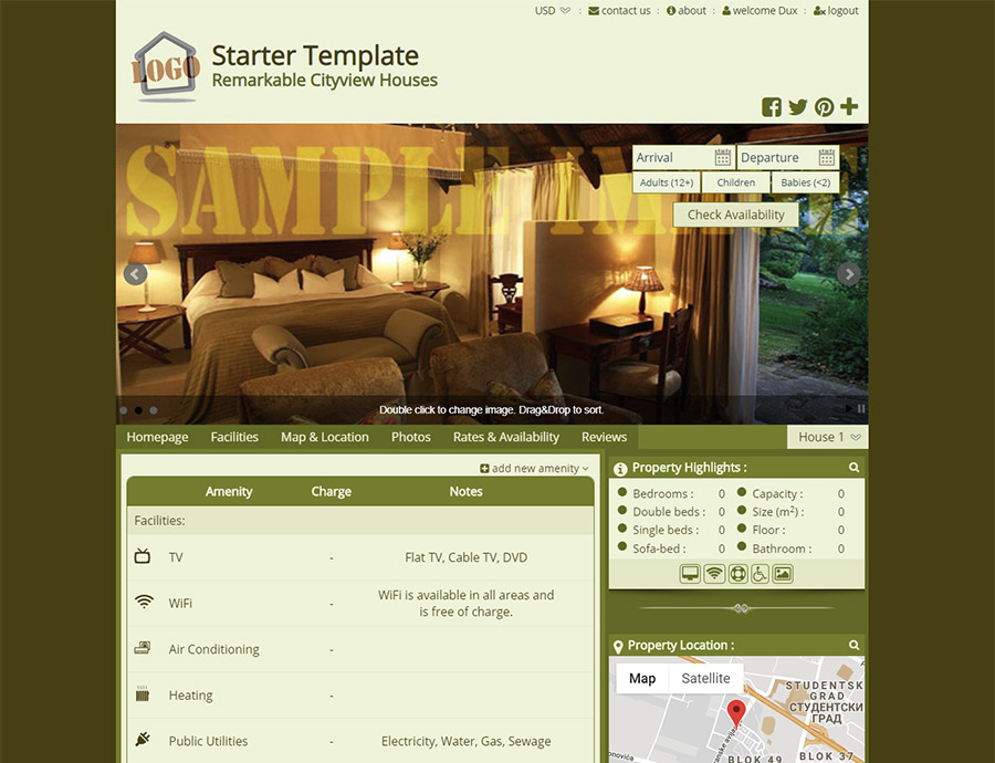 Starter - Make Your Own Design - website builder template