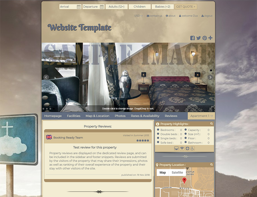 Spiritual - website builder template