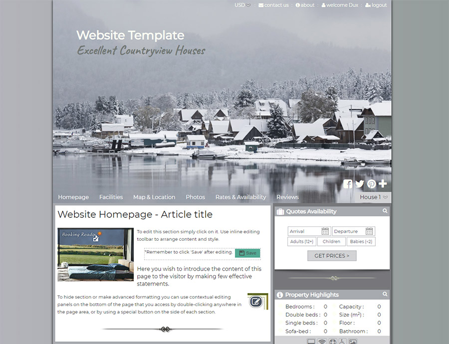 Snowy - website builder template