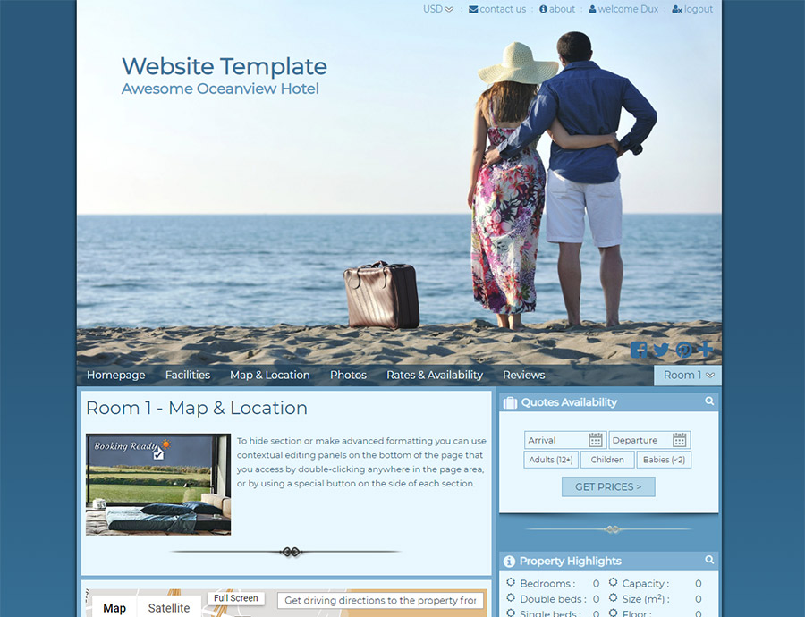 Oceanfront - website builder template