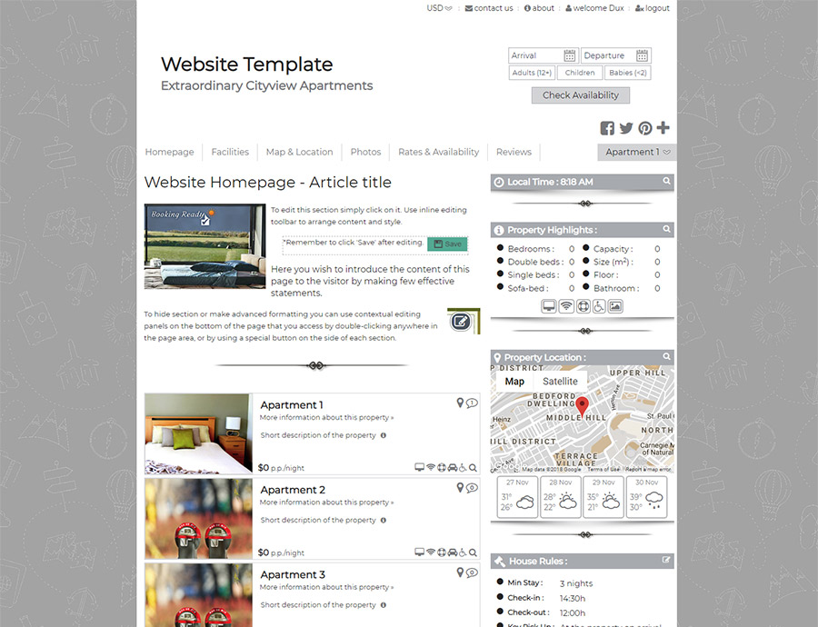 Minimalist - website builder template