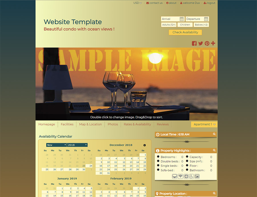 Sunset - website builder template