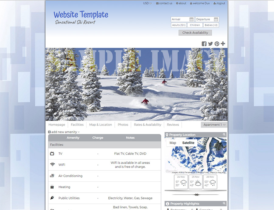 Outdoor Adventure - website builder template