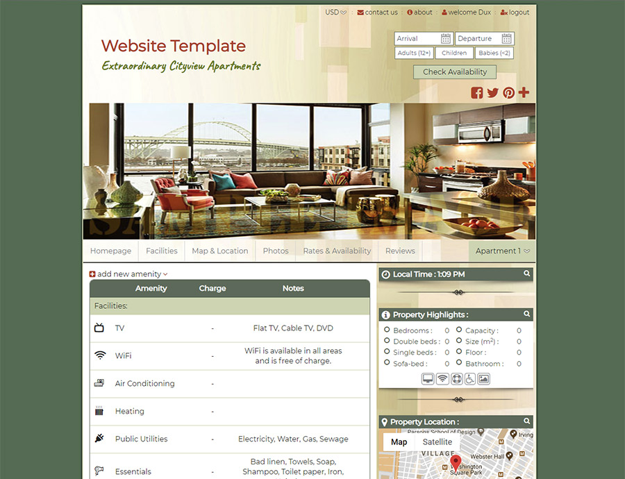 Cityview - website builder template