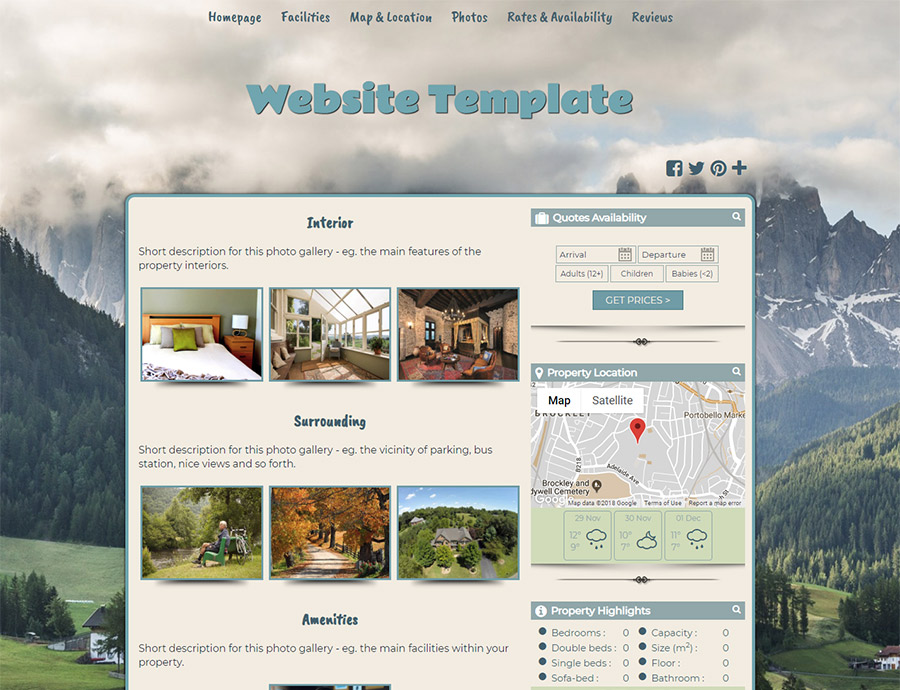 Pastoral Refuge - website builder template
