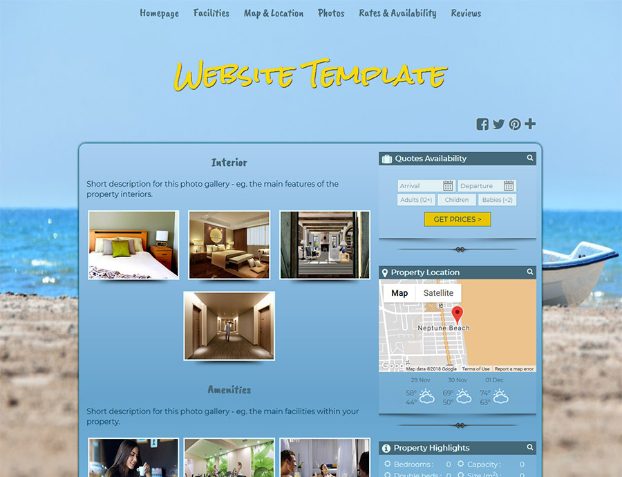 Leisure Time - website builder template