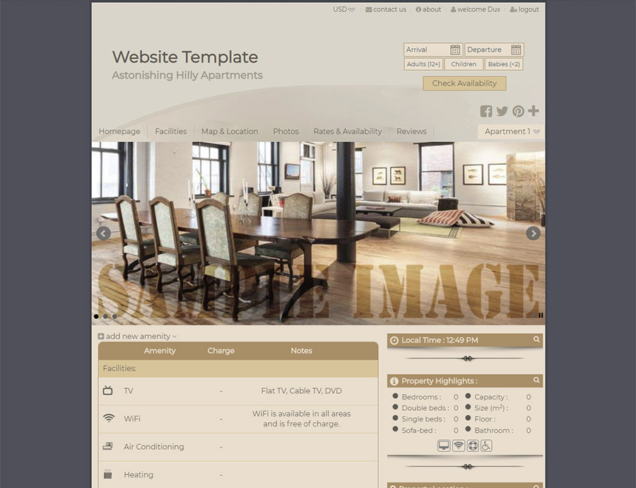 Sensuality - website builder template