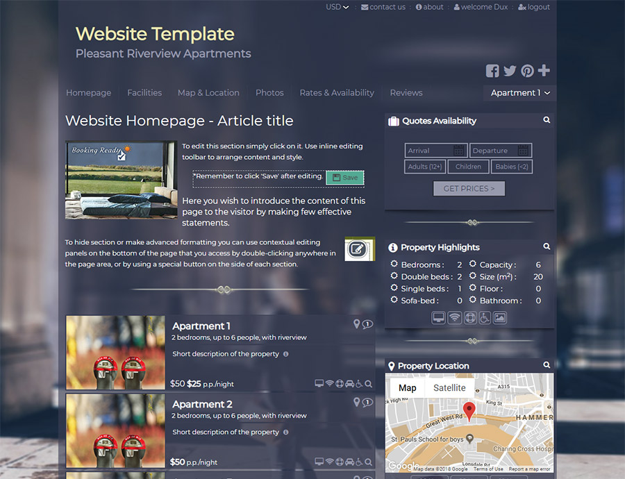 Urban Travel Spirit - website builder template